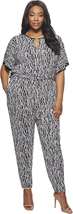 MICHAEL Michael Kors - Plus Size Square Sleeve Jumpsuit