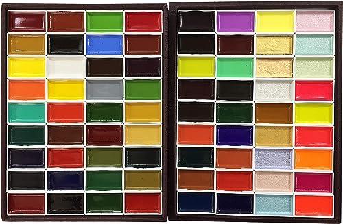 Auspicious Sumikaoirodori Luxus Bindung 72-Farb-Set