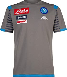 Ssc Napoli Italian Serie A Men's Representation T-Shirt, Grey, XXXL