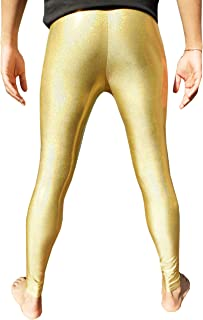 Holographic Meggings/Men's Leggings - 3 colour options - hologram gold, silver or black. Festival and party wear.