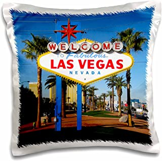 3dRose pc_156501_1 Welcome to Fabulous Las Vegas, NV Pillow Case, 16