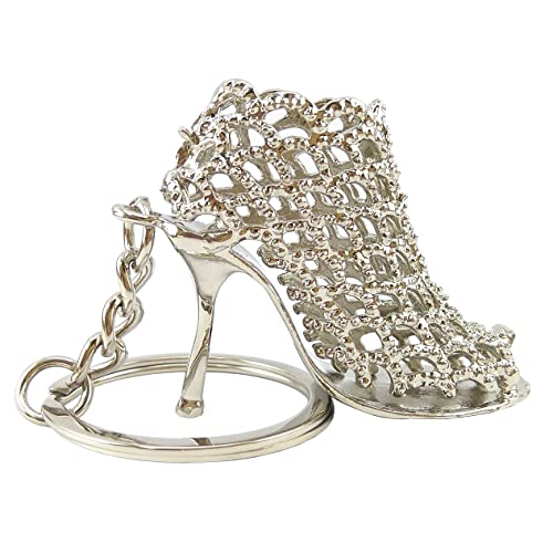 VB Retail Sandal High Heel Silver keychains keyring for girls couples women  car bike 4ba391333f
