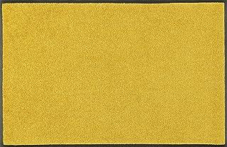 wash + dry Trend-Colour Honey Gold Door Mat, Acrylic, Yellow, 75 x 190 x 0.7 cm