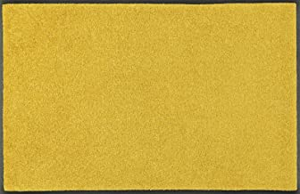 wash+dry Trend-Colour Honey Gold Acrylic Doormat, Acrylic, Yellow, 60 x 90 x 0.7 cm