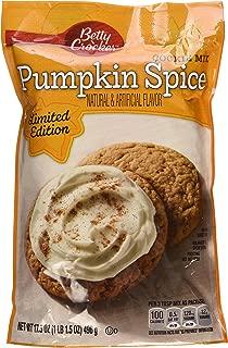 Betty Crocker, Pumpkin Spice Cookie Mix, 17.5oz Pouch (Pack of 4)
