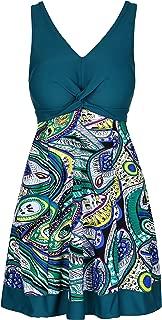 Lemonfish Plus Size Women Tankini Bikini Set Summer Swimsuit Swimwear Beach Bathing Suit with Front Bow