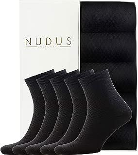NUDUS Men's Bamboo Ankle | Quarter | Dress Socks, 5-Pair Gift Box, Premium Quality