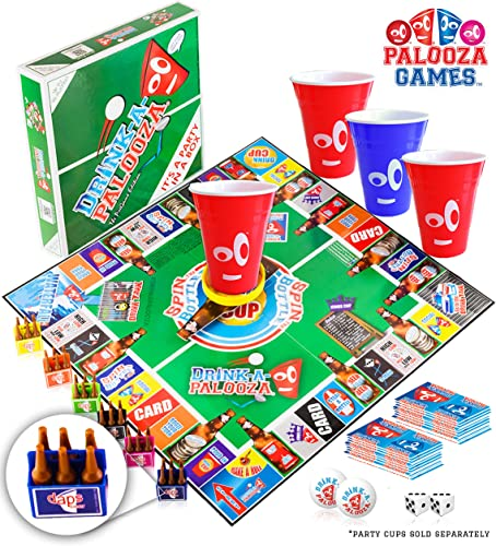 DRINK-A-PALOOZA Party Game  the Drinking Game that combines  old-school  +  nouveau-school  Adult Games featubague Beer Pong, Flip Cup, Kings voitured Game & all the Best Games for Adults