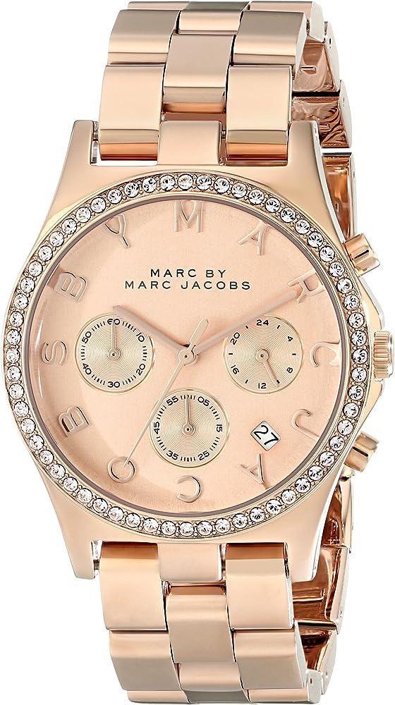 Marc jacobs orologio da donna in acciaio inossidabile MBM3118