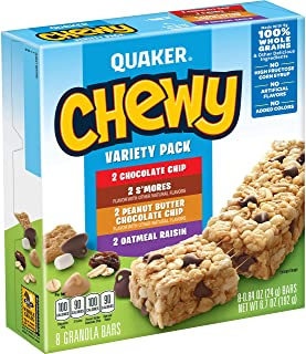 Quaker Chewy Granola Bars, Variety Pack, 8 count (Pack of 6) (Packaging may vary)