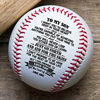 QUARTZILY Printed Baseball - Dad to Son Baseball - You Will Never Lose (from Dad)
