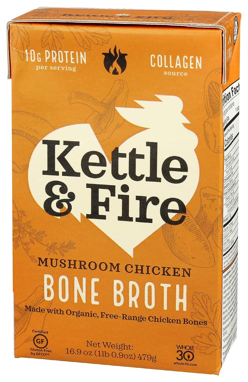 Kettle And Fire Broth Mushroom Chicken Bone, 16.9 OZ