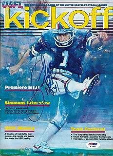 Herschel Walker Signed 1983 USFL Football Game Program Premiere Issue - PSA/DNA Certified - Autographed College Magazines
