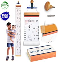 Growth Chart for Kids by Baby Proof - Measuring Height Chart and Kids Decor! Meaningful Memories through Kid Size Chart Measurement. Falling Leaves Growth Chart Ruler for Wall with Wooden Keepsake Box