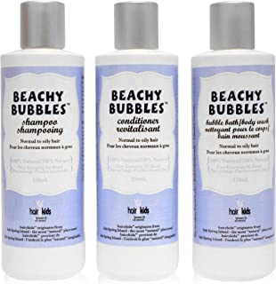 Hairy Kids Natural Shampoo Conditioner and Bubble Bath Family Pack of 3-250 Ml (Beachy Bubbles)