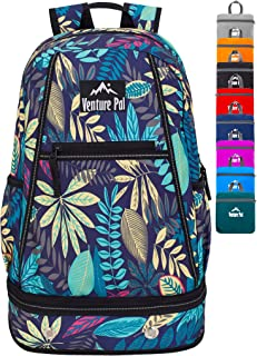 Venture Pal 35L Lightweight Packable Hiking Backpack with Wet Pocket & Shoes Compartment Travel Backpack for Men and Women