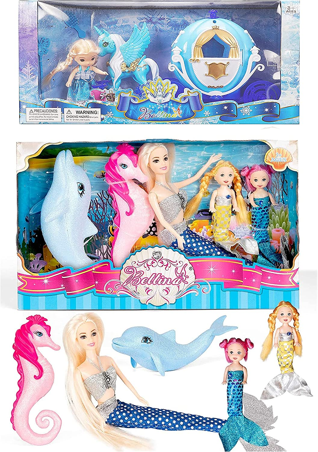 Large special price Mermaid Princess Doll Playset for with Girls Little Daily bargain sale