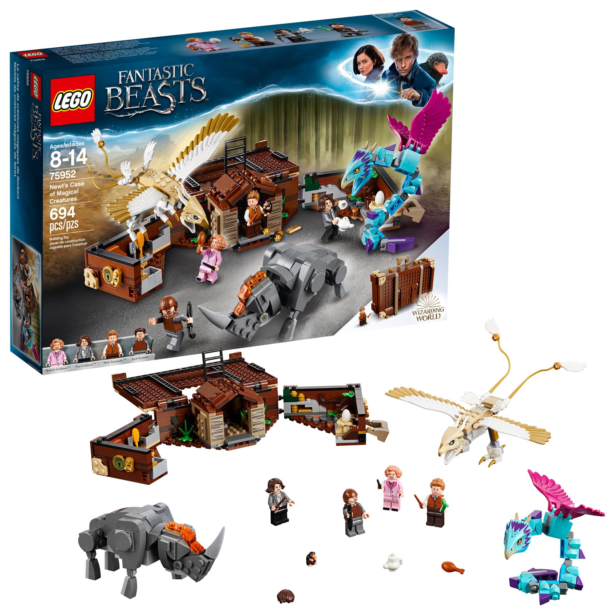 LEGO Fantastic Beasts Newt's Case of Magical Creatures 75952 Building Kit (694 Pieces) (Discontinued by Manufacturer)