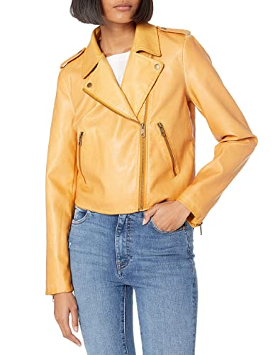 The Drop Women's Carmen Faux Leather Moto Jacket