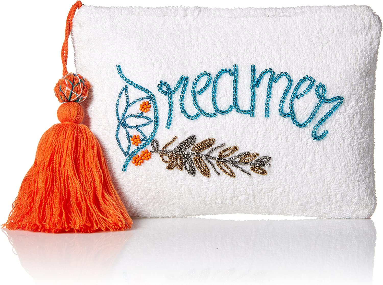 Ale by Alessandra womens Dreamer Plush Cotton Terry Cloth Clutch Bikini Bag Handbag Organizer