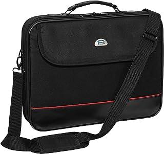 Pedea Laptoptasche Trendline Notebook-Tasche bis 17,3 Zoll (43,9 cm) Umhängetasche mit Schultergurt, Schwarz