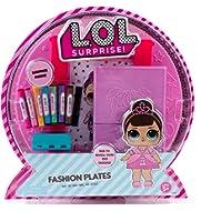 L.O.L. Surprise! Fashion Plates by Horizon Group Usa, Fashion Design Activity Kit, Make Over 100...