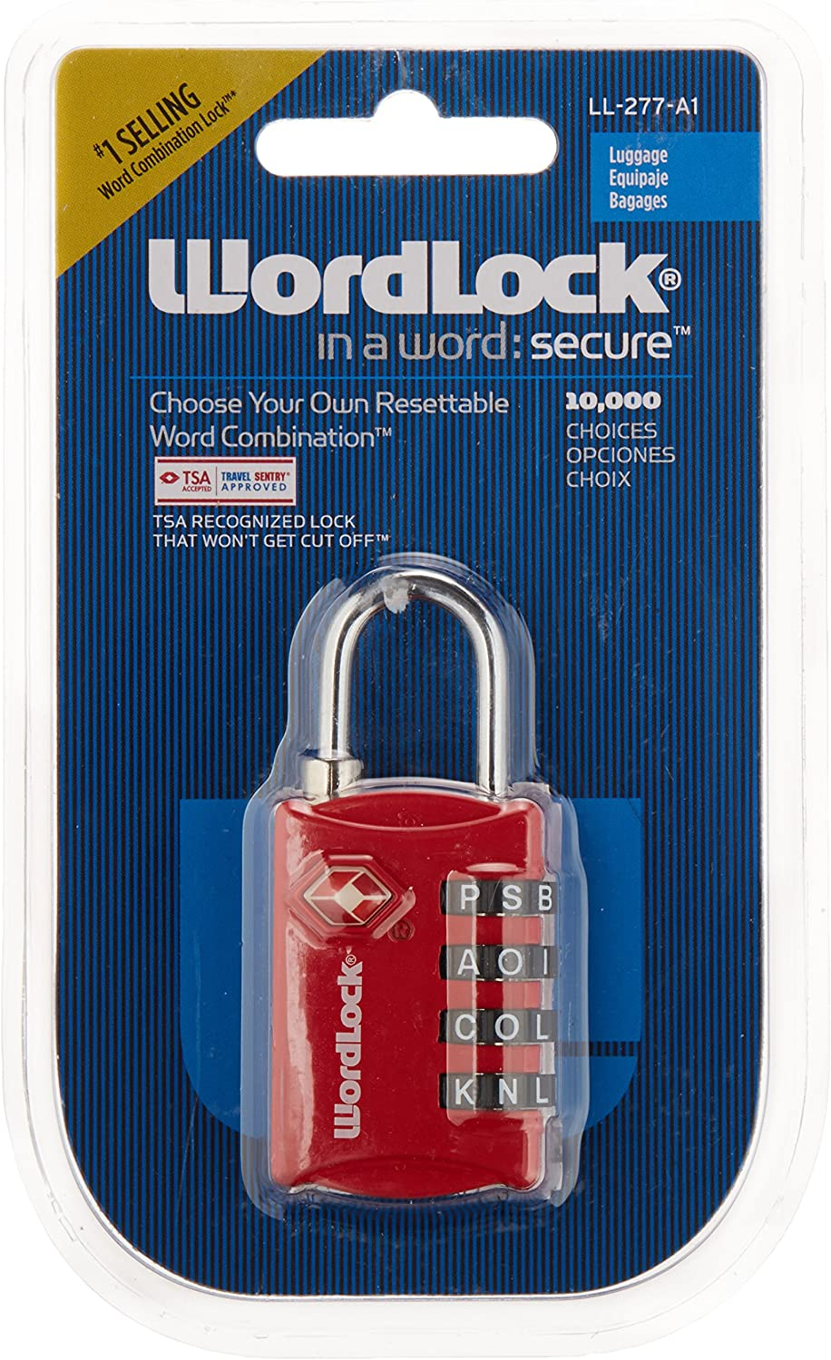 Albuquerque Mall Wordlock TSA 4-Dial Same day shipping Resettable Colors Lock Luggage Assorted