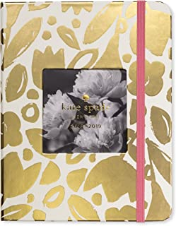 Kate Spade Medium Academic Daily Planner 2018-2019 with Daily Weekly Monthly Views and Happy Stickers (Gold Floral)