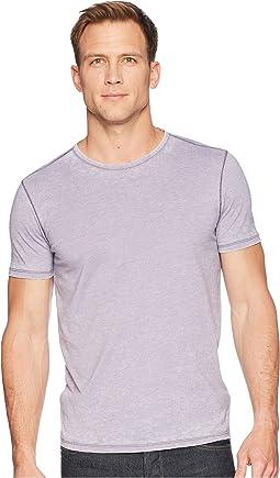 John Varvatos Star U.S.A. Short Sleeved Crew Neck w/ Garment Burnout K2683U1B