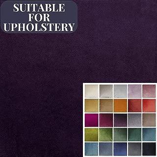 McAlister Textiles Matt Velvet | Aubergine Purple Upholstery Fabric DIY Crafting Material | Fabric Swatch 3x7 Inches