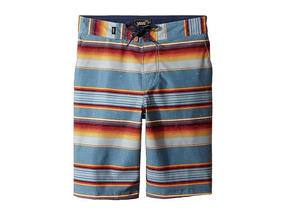 Vans Kids Rockaway Stretch Boardshorts (Little Kids/Big Kids) (Blue Mirage Rockaway Stripe) Boy
