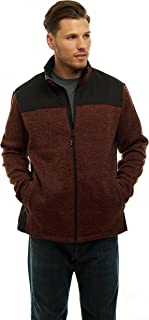 TrailCrest Mens Unique Speckled Zip Sweater Fleece/Jacket-Heather Knit -All Season Classic Collection
