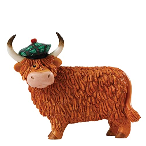 Cute Glass Miniature Highland Cow Ornament