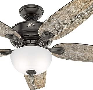 Hunter Fan 54 inch Casual Noble Bronze Indoor Ceiling Fan with Light Kit (Renewed) (Noble Bronze)