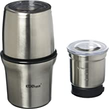Kitchen Highline 342612 SP-7412S Stainless Steel Wet and Dry Coffee/Spice/Chutney Grinder with Two Bowls, 220V (Not for USA - European Cord)