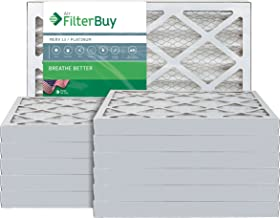 FilterBuy 20x25x2 MERV 13 Pleated AC Furnace Air Filter, (Pack of 12 Filters), 20x25x2 – Platinum