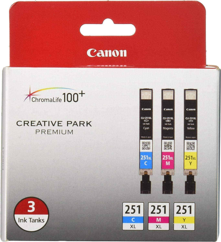 Canon CLI-251XL 3 Color Multi Pack Compatible to MG6320, iP7220, MG5420, MX922, MX722, MG7120, MG6420, MG5520, iX6820, iP8720, MG7520, MG6620, MG5620