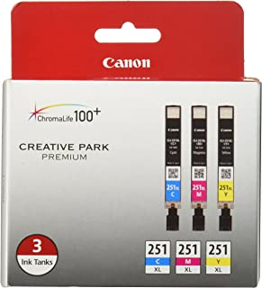 Canon CLI-251XL 3-Ink Value Pack, Compatible for MX922,iP8720,iX6820,MG7520, MG6420, MG5620, and MG5721 Printers