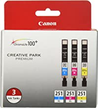 Canon CLI-251XL 3 Color Multi Pack Compatible to MG6320, iP7220, MG5420, MX922, MX722, MG7120, MG6420, MG5520, iX6820, iP8...