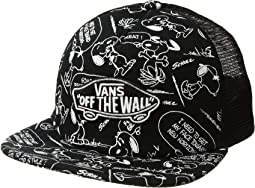 Vans - Classic Patch Trucker Plus (Big Kids) x Peanuts Collaboration