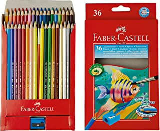 Faber Castell Design Series Aquarelle Water Color Pencils - 36 Shades