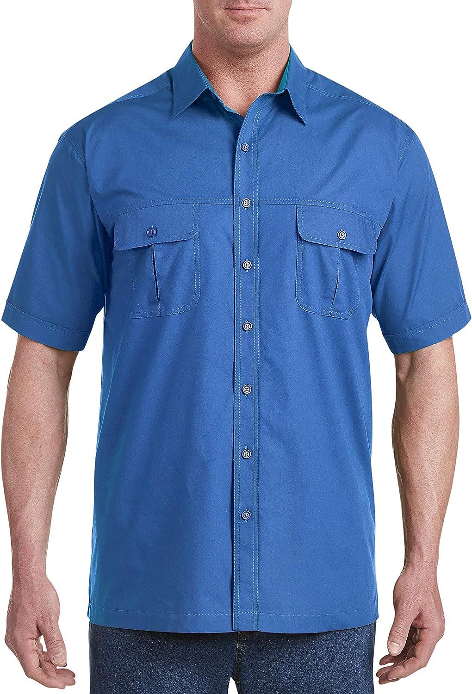Harbor Bay by DXL Big and Tall Short-Sleeve Co-Pilot Sport Shirt