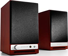 Audioengine HD3 60W Wireless Powered Desktop Speakers, Bluetooth aptX HD, USB 24-Bit DAC & Analog Amplifier (Cherry)
