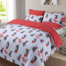 Dreamscene Koala Melon Duvet Cover with Pillowcase Bedding Set Animal Print Red Grey White, Single