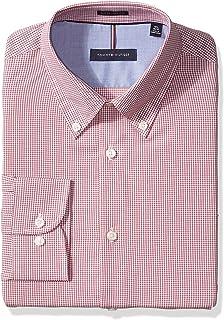 282b3b9b5 Tommy Hilfiger Men's Dress Shirts Non Iron Slim Fit Check Buttondown Collar