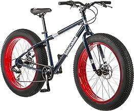 دوچرخه کوهستان دوقلو مغناطیسی چربی دولومیت با قاب فولادی 17 اینچ / متوسط، 7 سرعته رانندگی Shimano، ترمزهای مکانیکی دیسک، و چرخ های 26 اینچی، نور آبی، آبی دریایی و قرمز