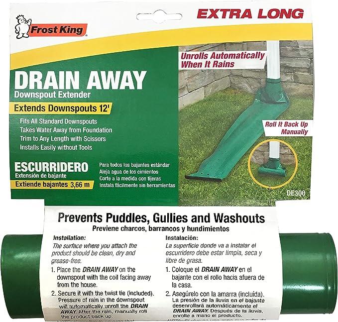 Frost Kg Dra Away 46 L x 8-1//2 W x 46 L Plastic Downspout Extension Brown