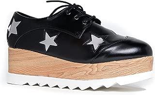 Elevate Platform Oxfords - Flatform Chunky Creeper Wood Lace Up Sneaker