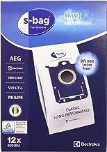Electrolux E201SM Accessoires Aspirateur S-Bag Classic Long Performance 12 Sacs Synthétique Méga Pack