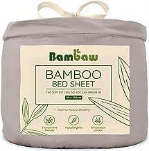 Bambaw Bambus prześcieradło z gumką | pojedyncze głęboko dopasowane prześcieradło | regulacja temperatury | hipoalergiczne...